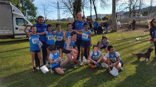 Alevines chicos, Campeones Bizkaia Cross
